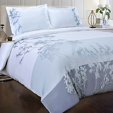 Simple Luxury Sydney 3 Piece Embroidered Reversible Duvet Cover Set; King/California King