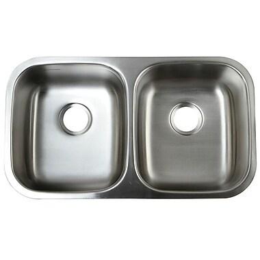Kingston Brass Loft 32.25'' x 18.5'' Undermount 18 Gauge Double Bowl Kitchen Sink