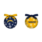 Team Sports America NFL LED Boxed Ornament Set; San Diego Chargers