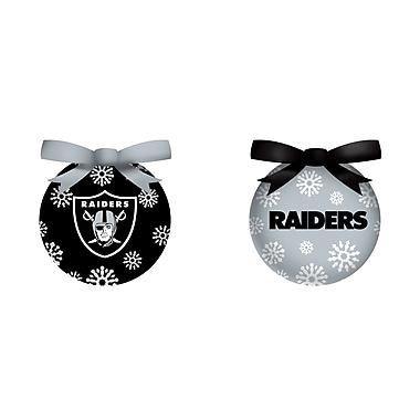 Team Sports America NFL LED Boxed Ornament Set; Oakland Raiders