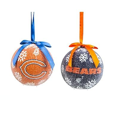 Team Sports America NFL LED Boxed Ornament Set; Chicago Bears