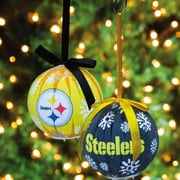 Team Sports America NFL LED Boxed Ornament Set; Pittsburgh Steelers