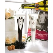 Cypress 2 Piece One Fling Before the Ring Trumpet Champagne Flute Set