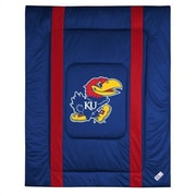 Sports Coverage NCAA University of Kansas Sidelines Comforter; Twin