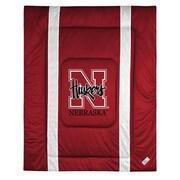 Sports Coverage NCAA University of Nebraska Sidelines Comforter; Full/Queen