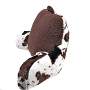 Sleeping Partners 2 Plush Cow Print and Sherpa Bed Rest