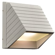 PLC Lighting Le Doux 1-Light Outdoor Flush Mount; Silver