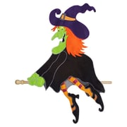 Evergreen Flag & Garden Flying Witch Vertical Flag