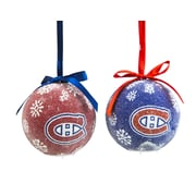 Team Sports America NHL LED Boxed Ornament Set; Montreal Canadiens