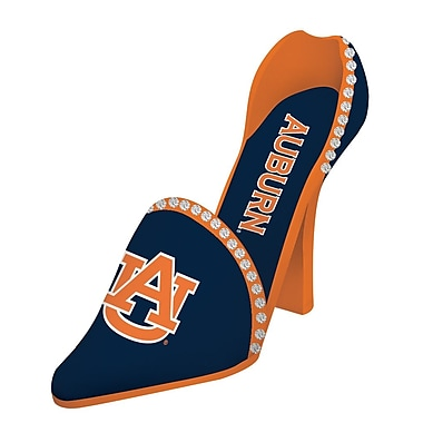 Team Sports America NCAA Shoe 1 Bottle Tabletop Wine Rack; Auburn