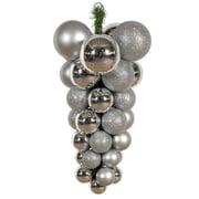 Vickerman Assorted Shape Grape Cluster Ornament; Silver