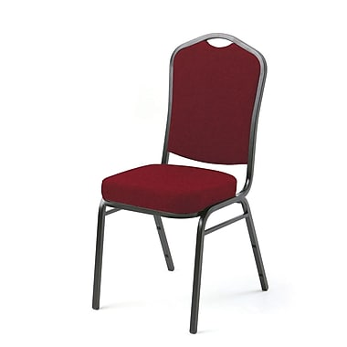Mity Lite Access Crown Back Banquet Chair w/ Cushion; Burgundy
