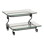 Woodland Imports Stupendous Metal Glass 2 Tier Shelf