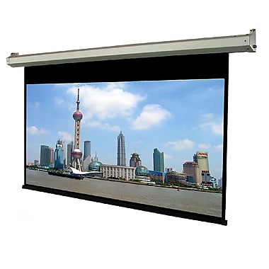 TygerClawMD – Écran de projection motorisé silencieux, 84 po, 89,5 x 89,5 x 5,1 po, noir