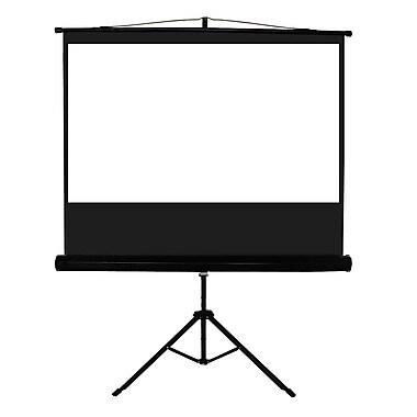 TygerClawMD – Écran de projection à rabat, avec trépied, 100 po, 80,7 x 80,7 x 6,3 po, noir