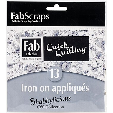 FabScraps Shabbylicious 60BAM1 Blue Applique Motifs, 12/Pack