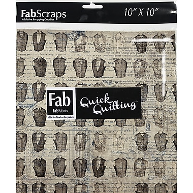 FabScraps The Gentleman's Club 66BSQ10 Blue Squares, 42/Pack