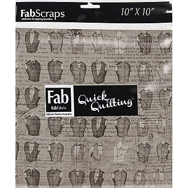 FabScraps The Gentleman's Club 66RSQ10 Red Squares, 42/Pack