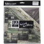 FabScraps The Gentleman's Club 66GFQ Green Fat Quarters, 6/Pack