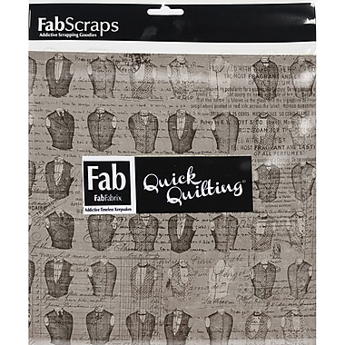 FabScraps The Gentleman's Club 66RSQ5 Red Squares, 42/Pack