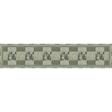 FabScraps The Gentleman's Club 66GTR1 Green Table Runner