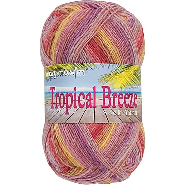 Mary Maxim 438 yards Tropical Breeze Yarn, Pedi Passion