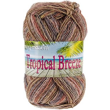 Mary Maxim 438 yards Tropical Breeze Yarn, Toes in the Sand
