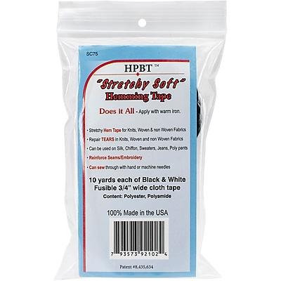 Heat Press Batting 2075 Together Hem Tape, Black & White