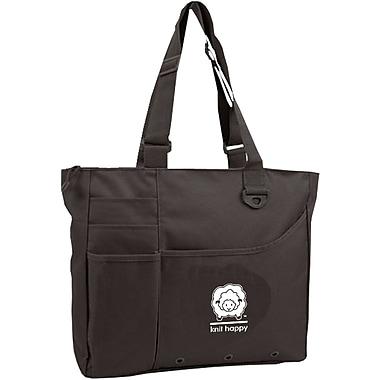 K1C2 KH112-BA Black Knit Happy Bright Bag, 13
