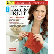 """Leisure Arts LA-6395 """"10 20 30 Minutes To Learn To Knit"""""""