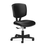 HON Volt Task Chair, Center-Tilt, Black SofThread Leather NEXT2018 NEXT2Day