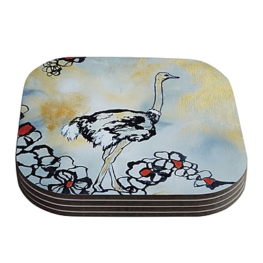 KESS InHouse Ostrich by Sonal Nathwani Coaster (Set of 4)