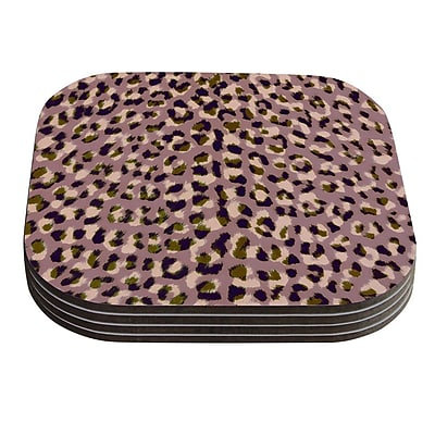 KESS InHouse Leo Cheetah by Vasare Nar Coaster (Set of 4) WYF078277623939