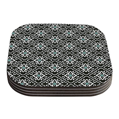 KESS InHouse Geometric by Heidi Jennings White Coaster (Set of 4)
