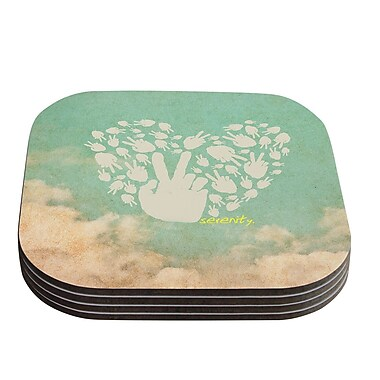 KESS InHouse Serenity Coaster (Set of 4)