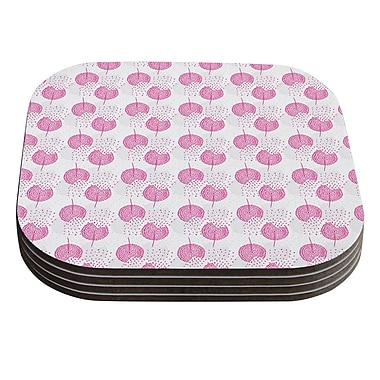 KESS InHouse Wild Dandelions by Apple Kaur Designs Coaster (Set of 4)