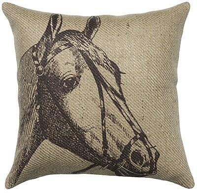 TheWatsonShop Horse Burlap Throw Pillow