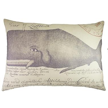 TheWatsonShop Whale Cotton Lumbar Pillow