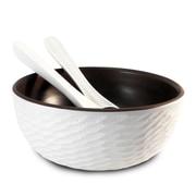 Enrico Honeycomb Salad Bowl and Server; White