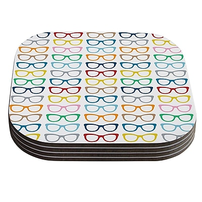 KESS InHouse Rainbow Specs by Project M Coaster (Set of 4)
