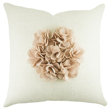 TheWatsonShop Floral Burlap Throw Pillow