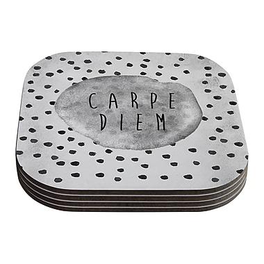 KESS InHouse Carpe Diem by Vasare Nar Coaster (Set of 4)