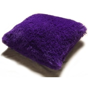 Kashi Home PV Fur Decorative Throw Pillow; Purple