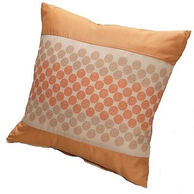 Kashi Home Rio Throw Pillow; Gold