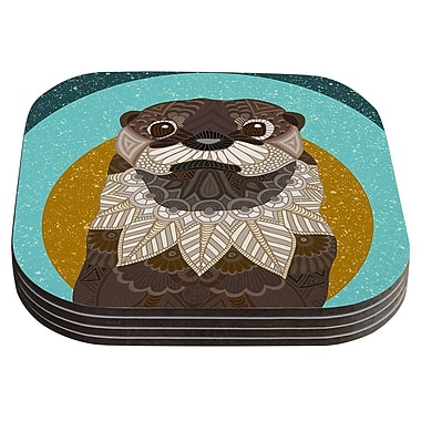 KESS InHouse Otter in Water by Art Love Passion Coaster (Set of 4)