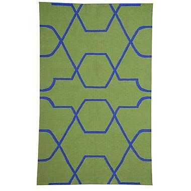 MOTI Rugs Thai 01 Green Indoor/Outdoor Area Rug; 5' x 8'