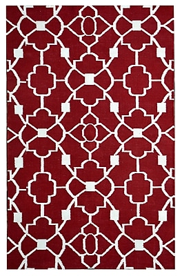 MOTI Rugs Thai 02 Red Indoor/Outdoor Area Rug; 8' x 11'