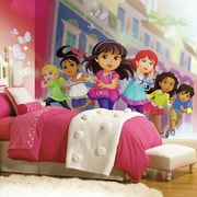 Room Mates Prepasted Dora and Friends XL Ultra-strippable Wall mural