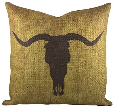 TheWatsonShop Taurus Burlap Throw Pillow