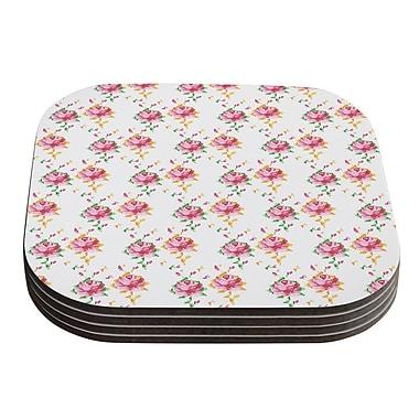KESS InHouse Cross Stitch Flowers by Laura Escalante Coaster (Set of 4)